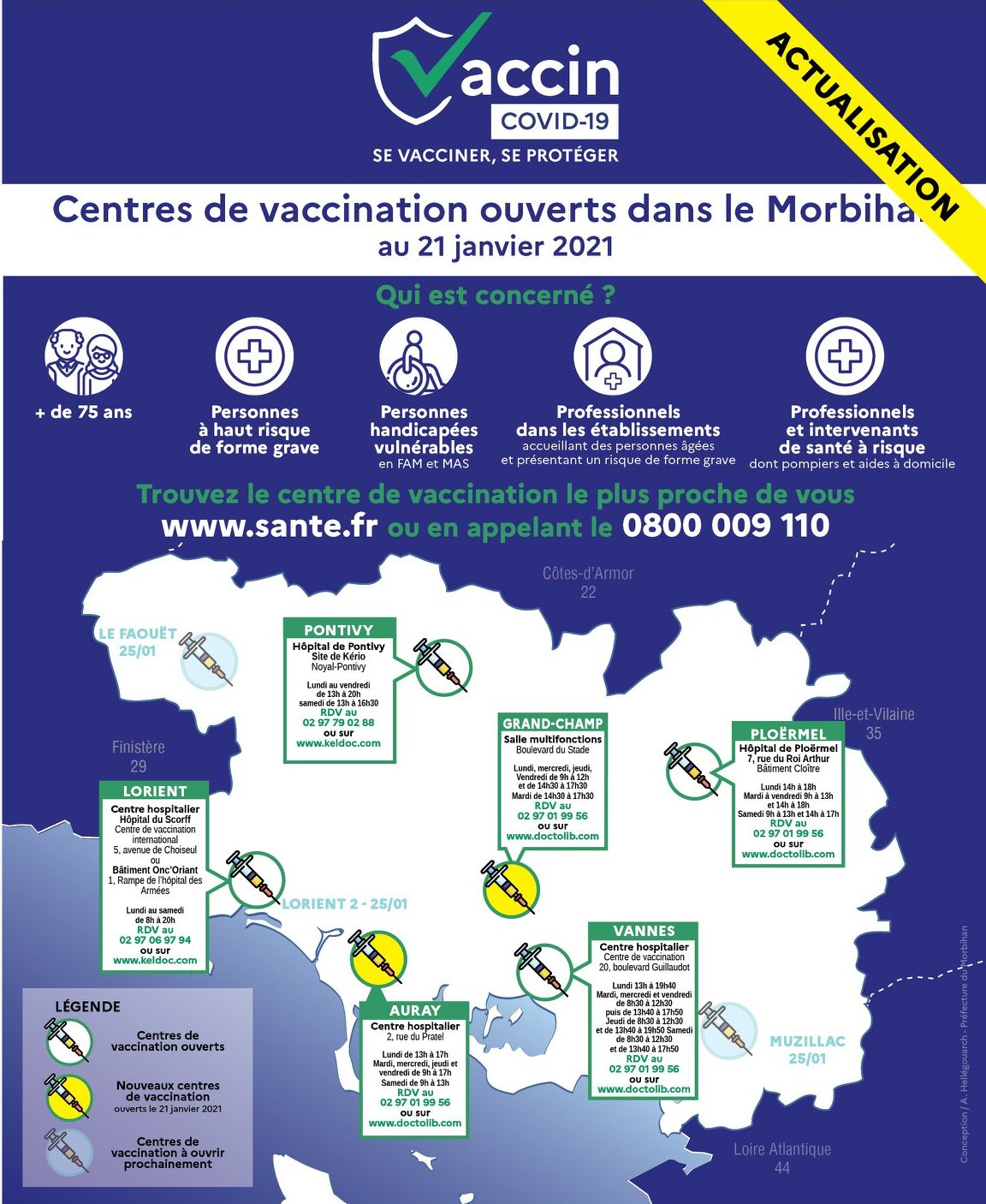 centres vaccination 56